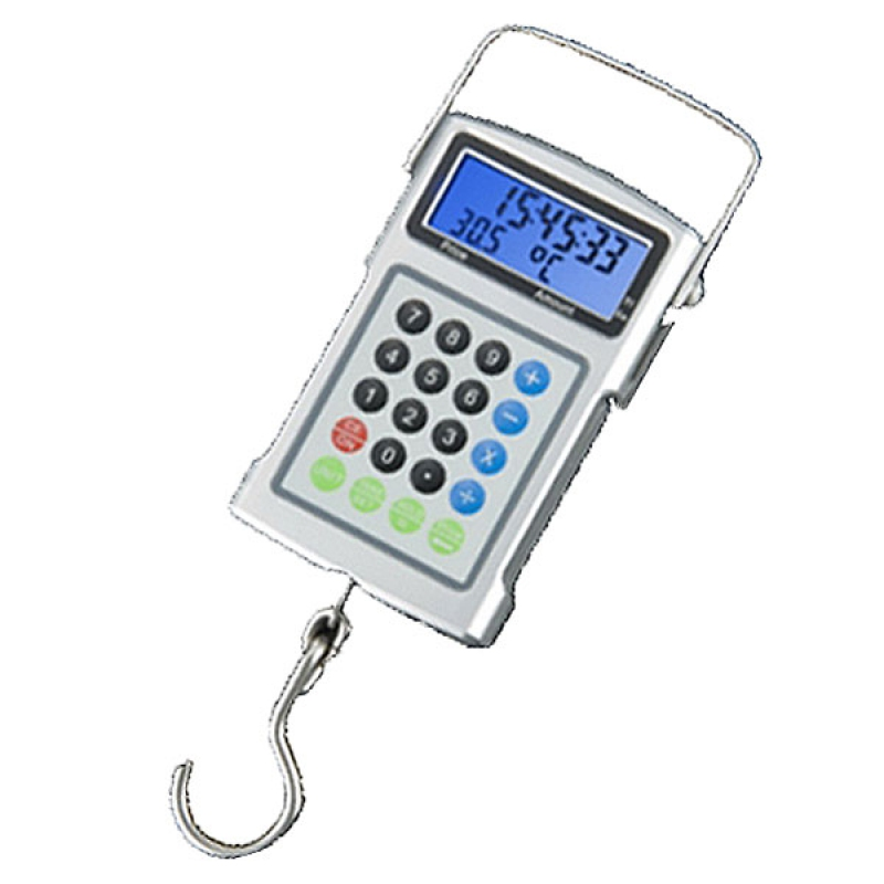 50kg 20g 7 in 1 digital fish hook travel weighing scale for Fish weight scale