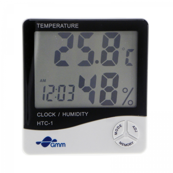 GMM 3-in-1 LCD Digital Temperature and Hygrometer with Clock function