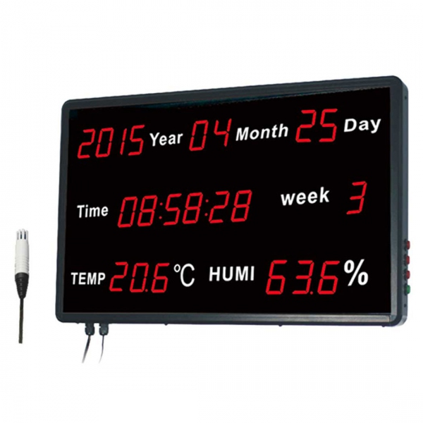 "Huato HE218C Wall Mounted 1.8"" LED Thermo-Hygrometer Date Time Data Logger (601x383)"