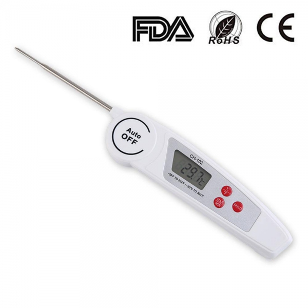 GMM CH-102 Waterproof Digital Cooking BBQ Food Thermometer (Folding Probe)