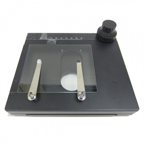 Manual X-Y Working Stage with Glass Plate for Microscope Stand