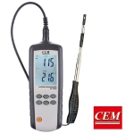 CEM DT-3880 Hot Wire Anemometer with USB interface