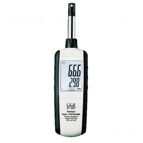 CEM DT-3321 Hygro-Thermometer,Dew Point,Wet Bulb,Dry Bulb