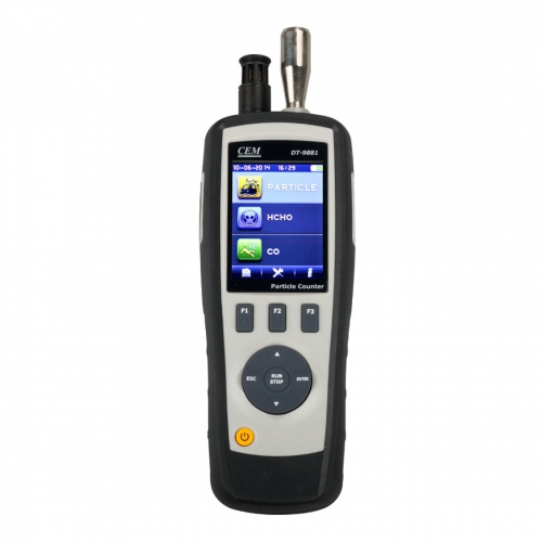 CEM DT-9881 4 in 1 Air Particle Counter, HCHO & CO Gas Detector w/ LCD & Camera