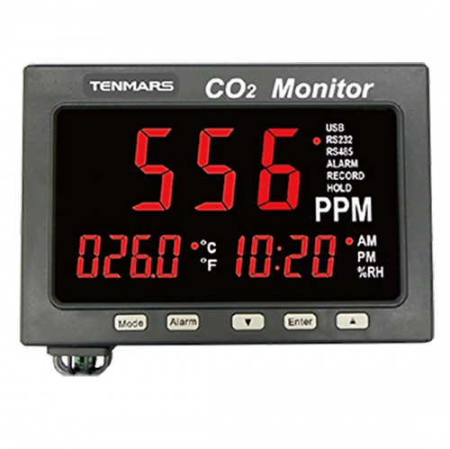 "Tenmars TM-187A 1.8"" LED CO2 / Temperature/ Humidity Monitor Data Logger (214x120)"