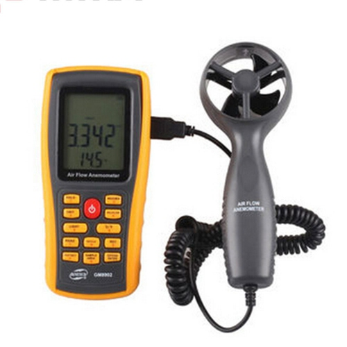 Benetech GM8902 Digital Air Flow Anemometer with USB interface