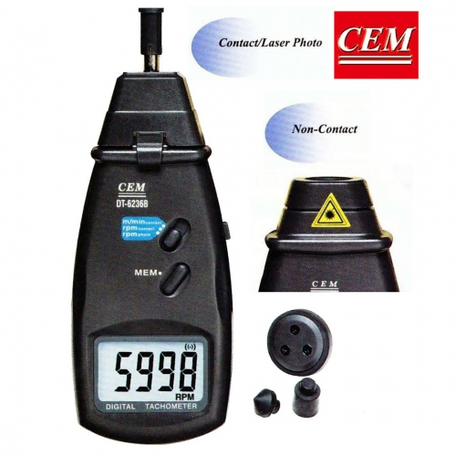 CEM DT-6236B High Accuracy Digital Contact / Non-contact Tachometer