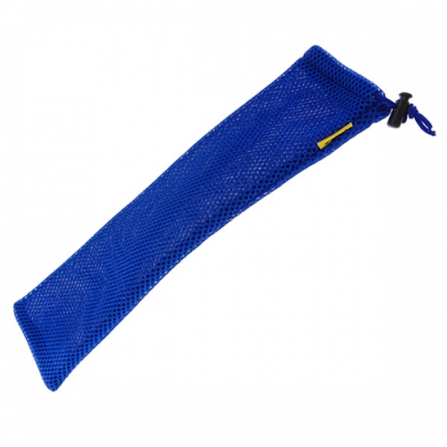 GMM Blue Mesh Fabric Pouch/Bag with draw strip press lock for Selfie Stick