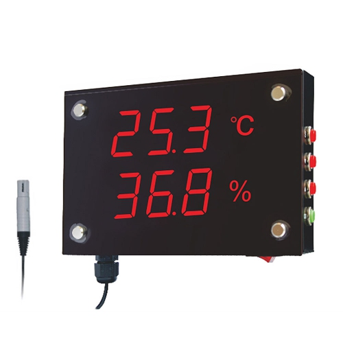 "Huato HE212A Wall Mounted 1.2"" LED Thermo-Hygrometer (170x115)"