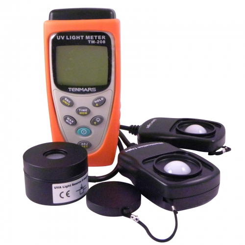 Tenmars TM-208 Datalogging 3 in 1 UVA Solar Light Meter