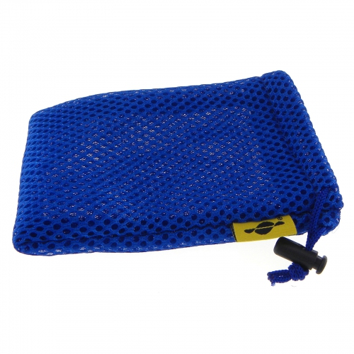 GMM Blue Mesh Fabric Pouch/Bag with draw strip press lock for Power Bank