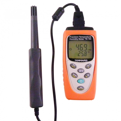 Tenmars TM-184 Precision Temperature Humidity Meter with Datalogging functions