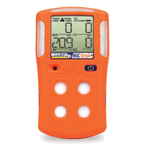 Multi Gas Clip MGC Simple+ Portable 4-Gas Detectors (LEL/O2/CO/H2S) 3-Year