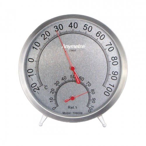 Anymetre TH600B Analog Wall / Desktop Hygro-Thermometer -20ºC~100ºC (Ø130)