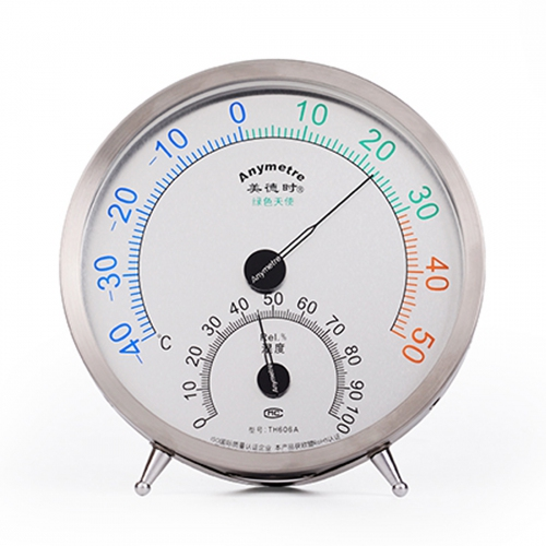Anymetre TH606A Analog Wall / Desktop Hygro-Thermometer -40ºC~50ºC (Ø130)