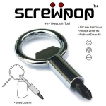 Screwpop 4-in-1 Keychain Tool