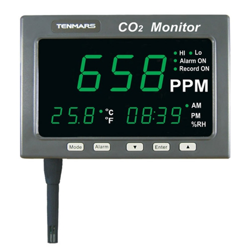 "Tenmars TM-187 1.8"" LED CO2 / Temperature/ Humidity Monitor (214x120)"